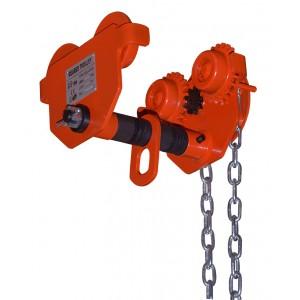 Тележка для ручной тали приводная (с цепью) GCL 5т*12м (колеса защищены боковыми стеночками) (A)