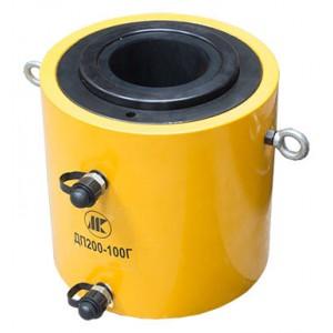 Домкрат гидравлический с полым штоком с гидравлическим возвратом ДП60-100Г (60т, ход 100мм)