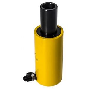 Домкрат гидравлический с полым штоком с пружинным возвратом ДП100-75П (100т, ход 75мм)