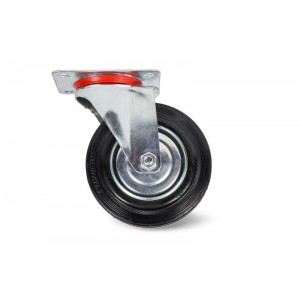 Колесо поворотное резина SC80 200мм (C-3302-SLS-200)