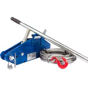 Лебедка рычажная тросовая TOR МТМ 1600, 1,6 т, L=20м (стальной корпус)