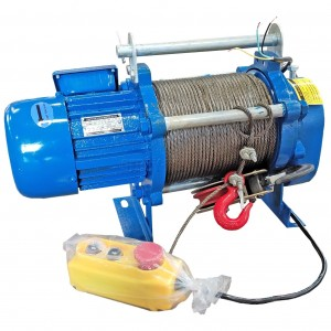 Лебедка электрическая KCD 300/600кг, 380В, 60/30м