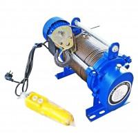 Лебедка электрическая KCD 500/1000кг, 220В, 100/50м